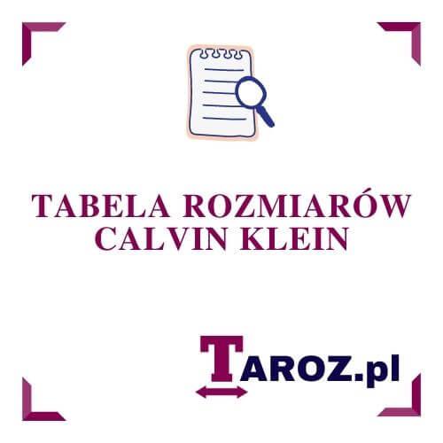 Tabela Rozmiarow Calvin Klein Taroz Pl