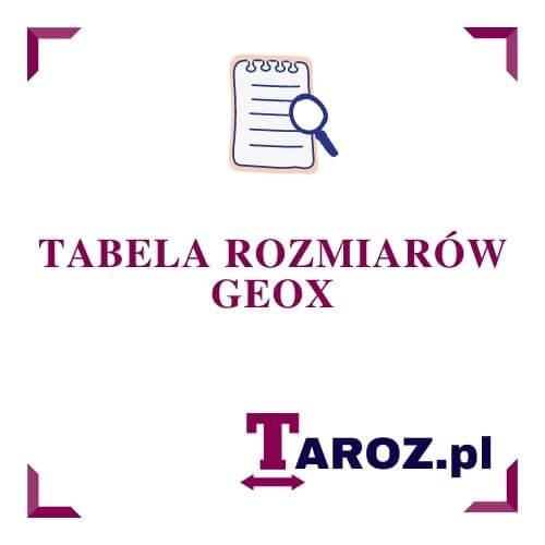 Tabela Rozmiarow Geox Taroz Pl