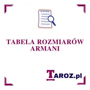 Tabela rozmiarów Armani
